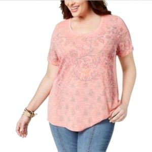 Style & Co Plus Size Relaxed Scoop Neck T-shirt